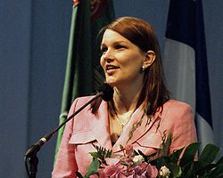 Mrs Mari Kiviniemi, the newly elected chairwoman of the Centre party of Finland, the new prime minister of Finland 2010, image: Wikipedia